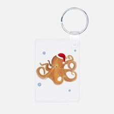 Christmas Octopus Keychains