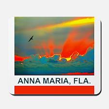 Bright sunset over Anna Maria Island Mousepad