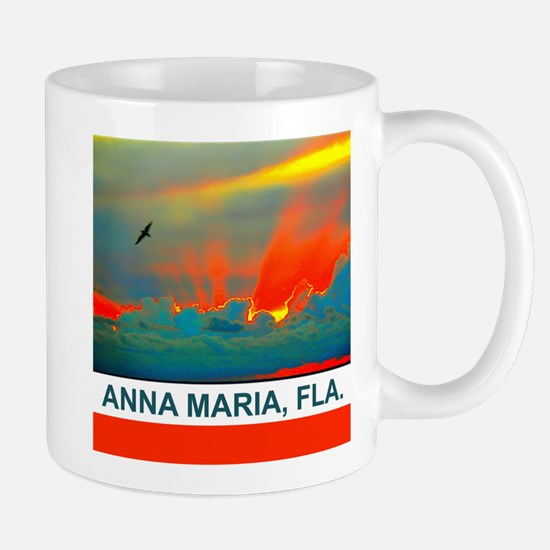 Bright sunset over Anna Maria Island Mug