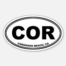 Coronado Beach, CA Oval Decal
