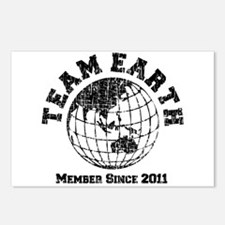 Team Earth : Member Since 2011 Postcards (Package