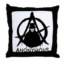 Anonymous Vendetta Throw Pillow