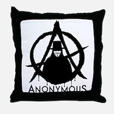 Anonymous Vendetta Throw Pillow