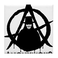 Anonymous Vendetta Tile Coaster