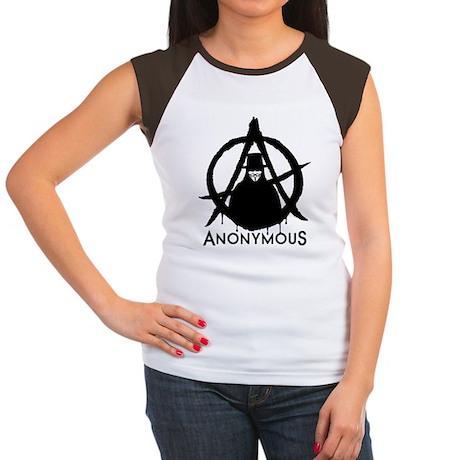 Anonymous Vendetta Women's Cap Sleeve T-Shirt