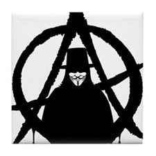Anonymous Vendetta (only) Tile Coaster
