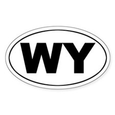 Wyoming Oval Decal