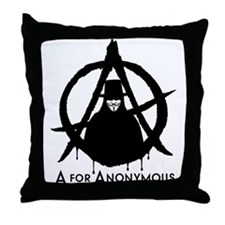 A for Anonymous Throw Pillow