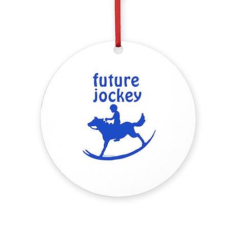 Future Jockey (blue) Ornament (Round)