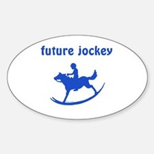 Future Jockey (blue) Oval Decal