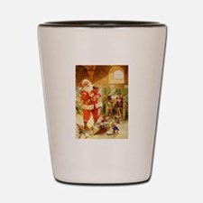 Santa in His North Pole Stables Shot Glass