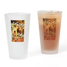Santa's Elves at the North Pole Drinking Glass