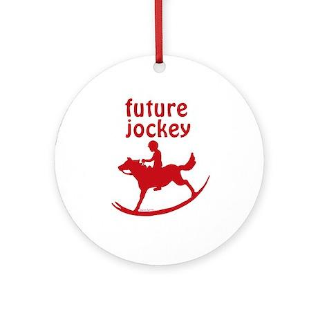Future Jockey (red) Ornament (Round)