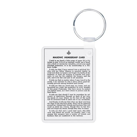 Masonic Membership Card Aluminum Photo Keychain