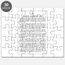 Masonic Membership Card Puzzle