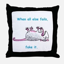 When all else fails, fake it. Throw Pillow