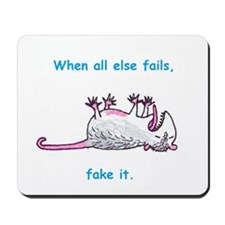 When all else fails, fake it. Mousepad