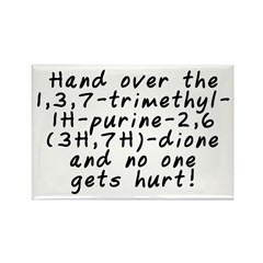 Hand over the caffeine - Rectangle Magnet (10 pack