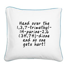 Hand over the caffeine - Square Canvas Pillow