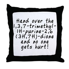 Hand over the caffeine - Throw Pillow