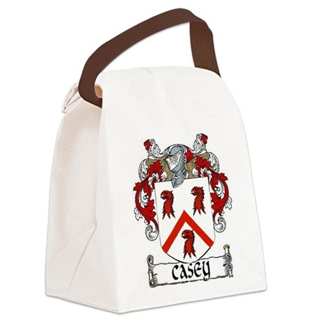 Casey Coat of Arms Canvas Lunch Bag