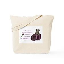Schnauzer (Black) Tote Bag