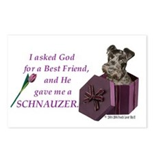 Schnauzer (Black) Postcards (Package of 8)