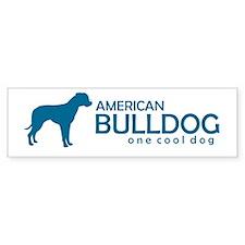 """American Bulldog """"One Cool Dog"""" Bumper Bumper Sticker"""