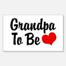 Grandpa To Be Rectangle Decal