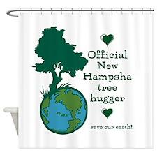 Official New Hampsha Tree Hugger Shower Curtain