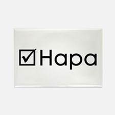 Check Hapa Rectangle Magnet