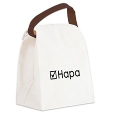 Check Hapa Canvas Lunch Bag