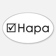 Check Hapa Sticker (Oval)