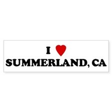 I Love SUMMERLAND Bumper Bumper Sticker