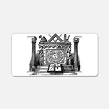 Allegories Aluminum License Plate