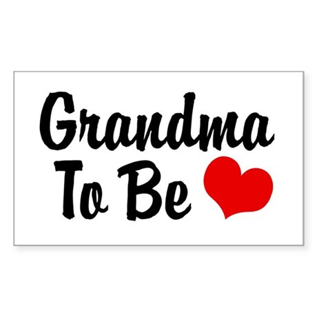 Grandma To Be Rectangle Sticker