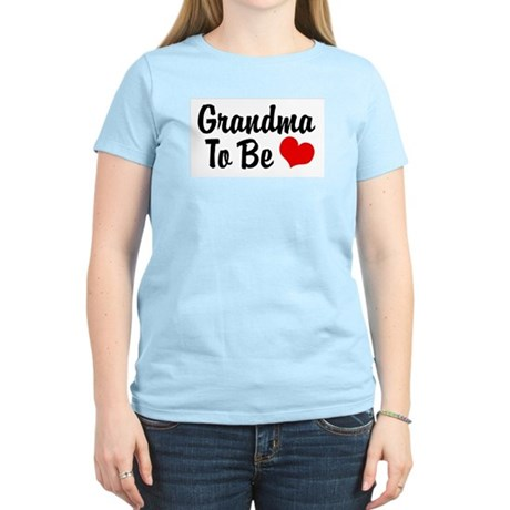Grandma To Be Women's Pink T-Shirt
