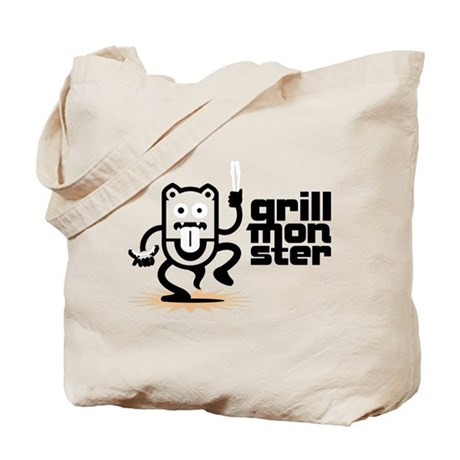 Grilling BBQ Monster Tote Bag