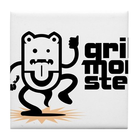 Grilling BBQ Monster Tile Coaster