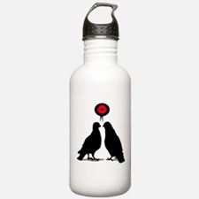 Love saying Doves - Two Valentine Birds Water Bottle