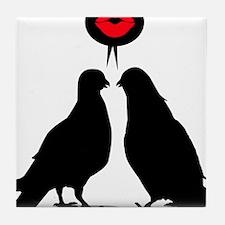 Love saying Doves - Two Valentine Birds Tile Coast