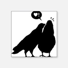 Love me now - Two Valentine Birds 2 Square Sticker