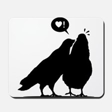 Love me now - Two Valentine Birds 2 Mousepad