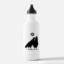 Love me now - Two Valentine Birds 2 Water Bottle