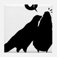 Love me now - Two Valentine Birds 2 Tile Coaster