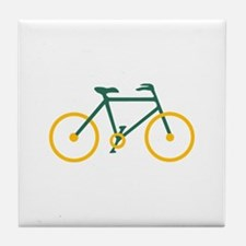 Green and Gold Cycling Tile Coaster
