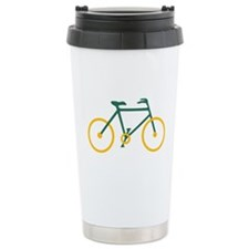 Green and Gold Cycling Travel Mug
