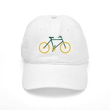 Green and Gold Cycling Baseball Cap