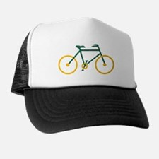 Green and Gold Cycling Trucker Hat