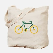 Green and Gold Cycling Tote Bag